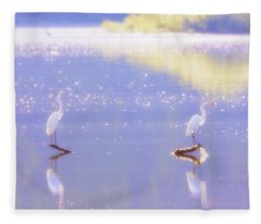 Great White Heron Fleece Blanket