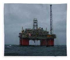 Grey Day At Snorre Fleece Blanket