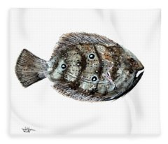 Gulf Flounder Fleece Blanket