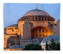 Hagia Sophia At Dusk Fleece Blanket