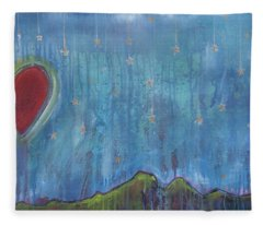 Hang Among The Stars Fleece Blanket