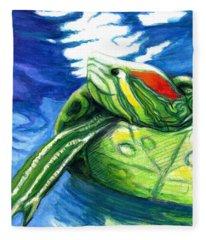 Happy Turtle Fleece Blanket