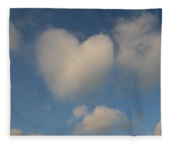 Heart In The Clouds Fleece Blanket