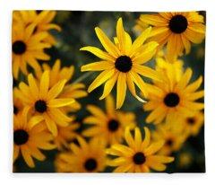 Heart Of Summer Flower Fleece Blanket
