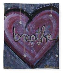Heart Says Breathe Fleece Blanket