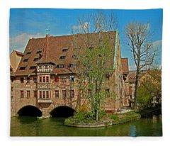 Heilig-geist-spital In Nuremberg Fleece Blanket