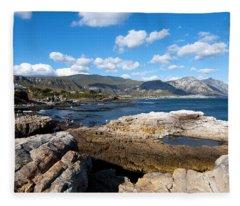 Hermanus Coastline Fleece Blanket