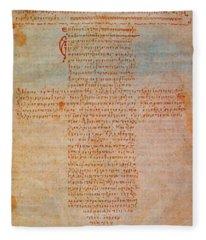 Hippocratic Oath Fleece Blanket