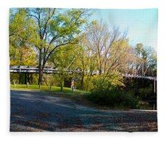 Historic Camelback Bridge Fleece Blanket
