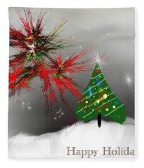 Holiday Card 2011a Fleece Blanket