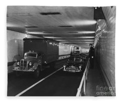 Holland Tunnel, Nyc Fleece Blanket