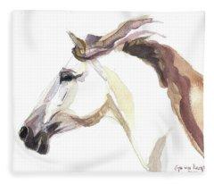 Horse - Julia Fleece Blanket
