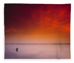 Horse Riding, Strangford Lough, County Fleece Blanket