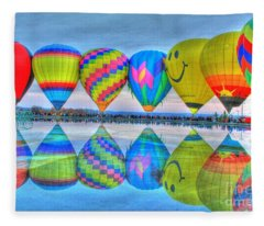 Hot Air Balloons At Eden Park Fleece Blanket