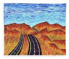 I - 15 Nevada To California Fleece Blanket