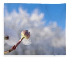 Iced Dogwood Fleece Blanket