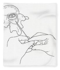 Illustration Of Lumbar Puncture Spinal Fleece Blanket
