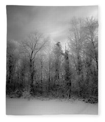 Impressionist Snow Fleece Blanket