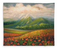 In The Poppy Field Fleece Blanket