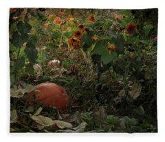 In The Shades Of An Autumn Sky Fleece Blanket