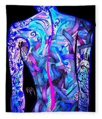 Intricate Woman Fleece Blanket