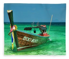 Island Taxi  Fleece Blanket