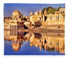 Jaisalmer Rajasthan Fleece Blanket