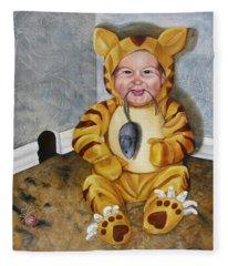 James-a-cat Fleece Blanket