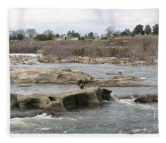 James River. Richmond Va Fleece Blanket
