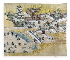 Japan: Castle, C1600 Fleece Blanket