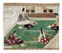 Japan: Eating Rice Fleece Blanket