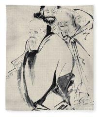 Japan: Old Men, C1425 Fleece Blanket