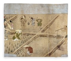 Japan: Rice Farming Fleece Blanket