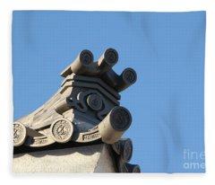 Japanese Rooftop Fleece Blanket