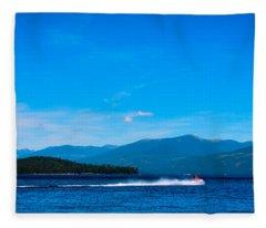 Jet Ski On Priest Lake Fleece Blanket