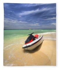 Jet Ski Fleece Blanket