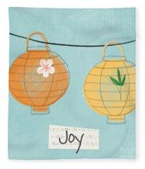 Joy Lanterns Fleece Blanket