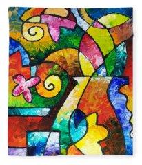 July Blooms Fleece Blanket