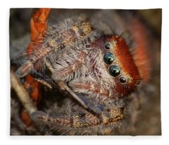 Jumping Spider Portrait Fleece Blanket