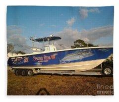 Kingfish Boat Wrap Fleece Blanket