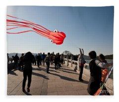 Kite Photographs Fleece Blankets