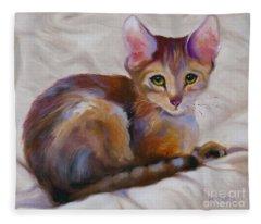 Kitten Princess Fleece Blanket