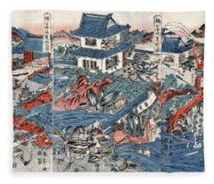 Kusunoki Masashige Fleece Blanket