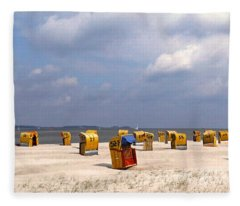 Laboe Beach ... Fleece Blanket