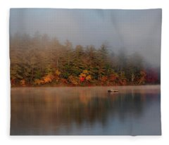 Lake Chocorua Sunrise Fleece Blanket