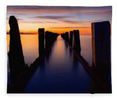 Lake Reflection Fleece Blanket