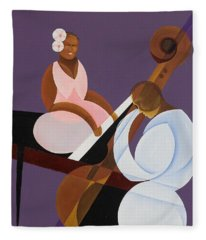 Lavender Jazz Fleece Blanket