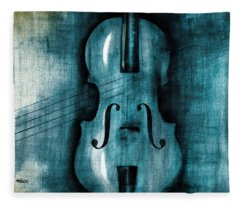 Le Violon Bleu Fleece Blanket