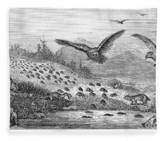 Lemming Migration Fleece Blanket