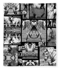 Leopard Appaloosa Collage Fleece Blanket